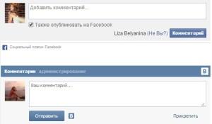 Комментирование блога wordpress с помощью форм Вконтакте и Facebook