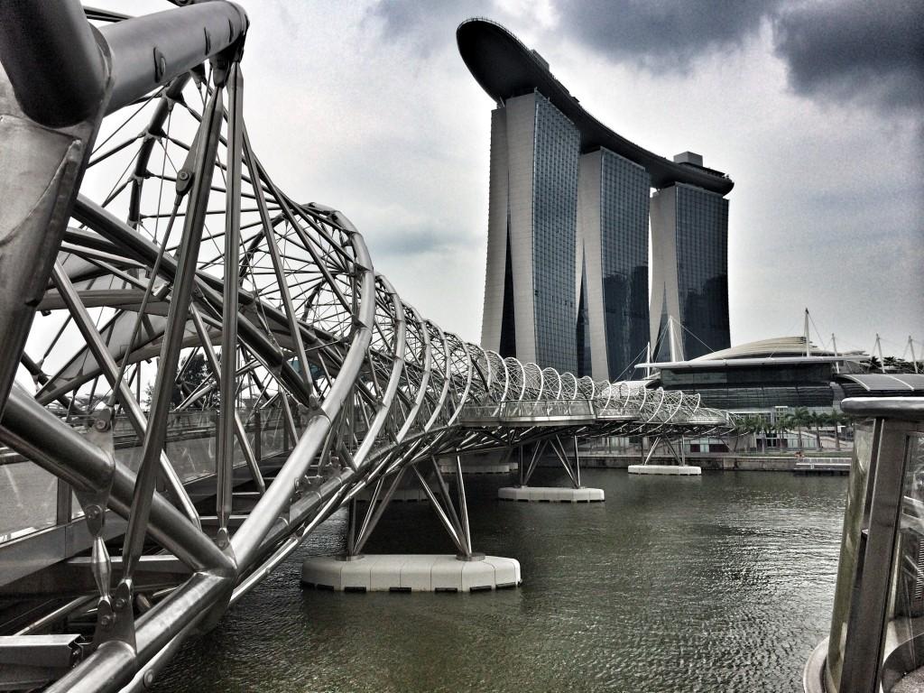 Вид на Marina Bay Sands Сингапур