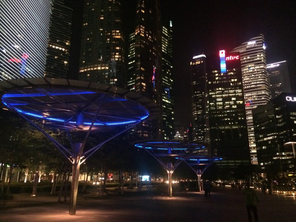 Набережная Марина бэй Сингапур