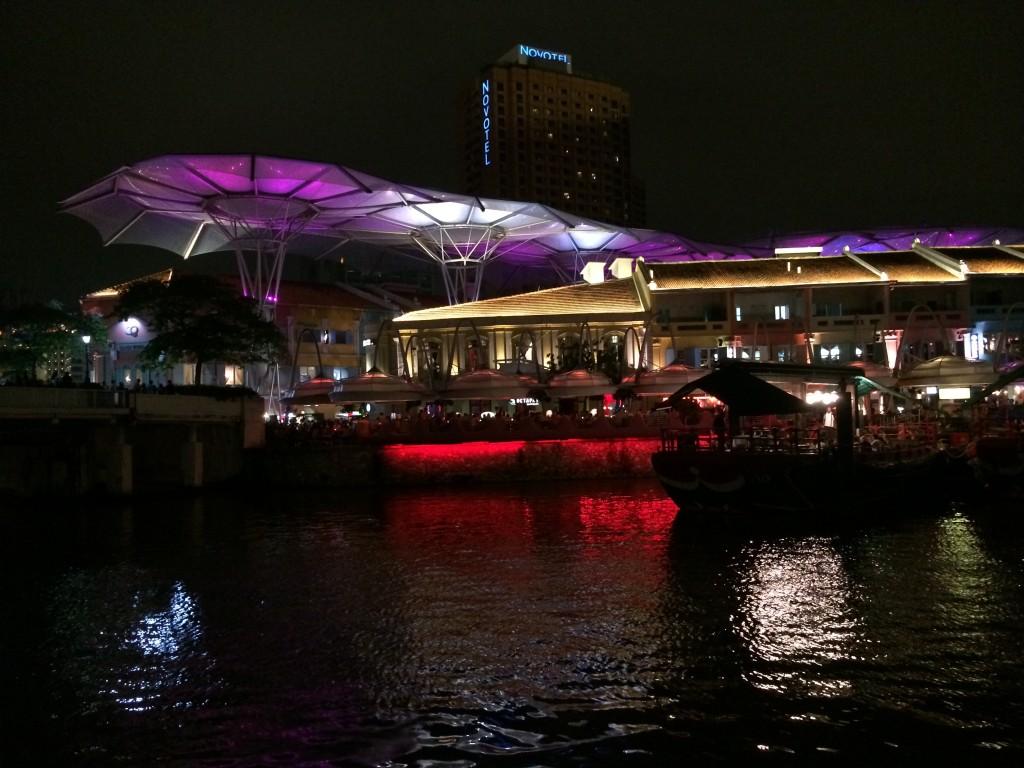 Район Clarke Quay в Сингапуре