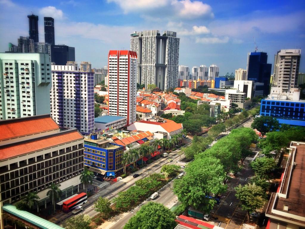 Вид с 22 этажа на Сингапур