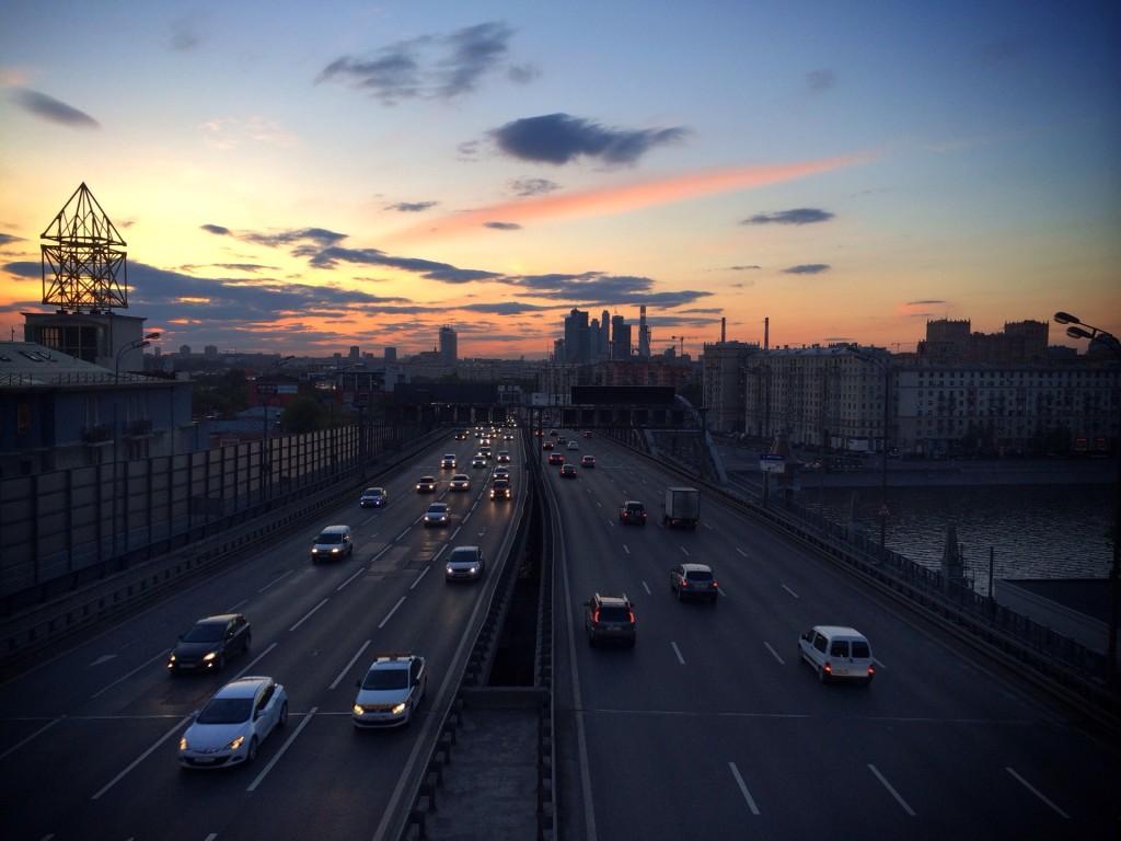 Москва закат
