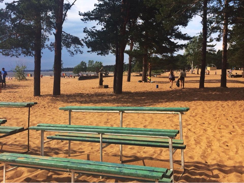 Пляж Ласковый поселок Солнечный спб
