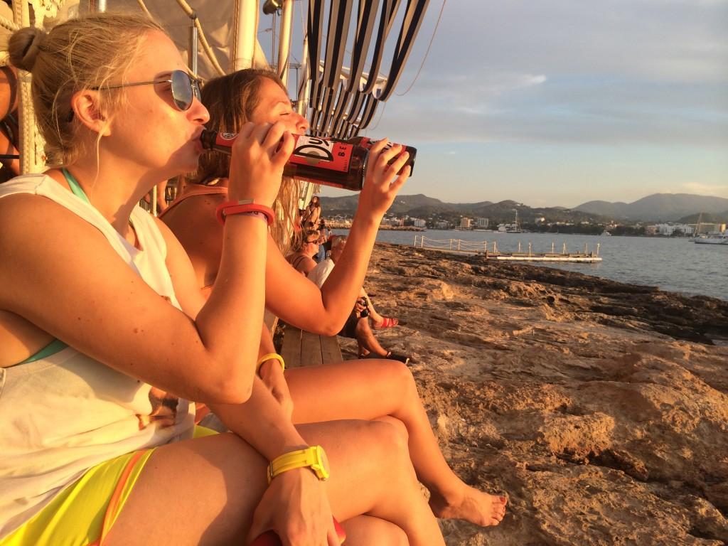 Закат в Cafe del Mare Ibiza