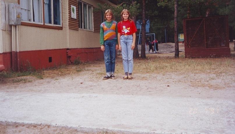 Я и Маринка - спортивный лагерь