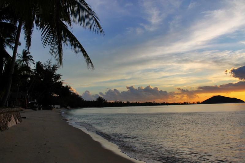 Закат на пляже Липа Нои ( Lipa Noi) Самуи