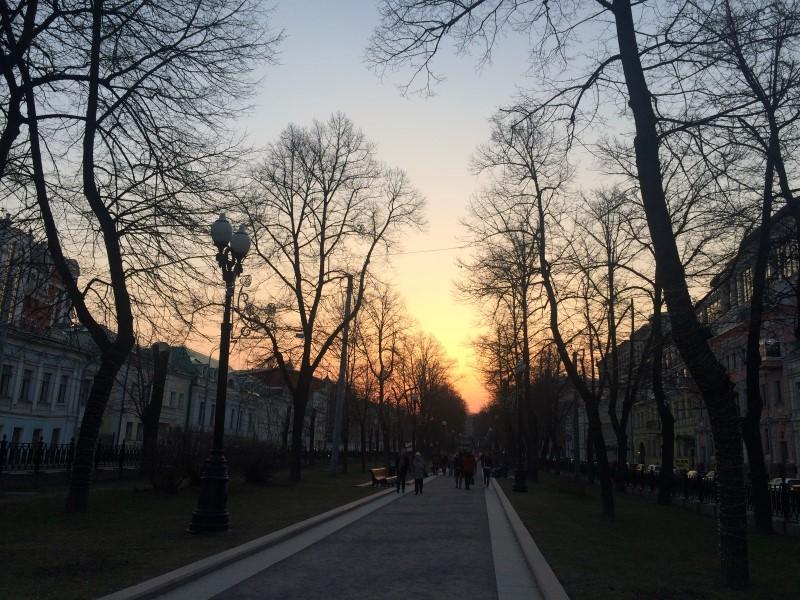Прогулка по бульварам Москвы