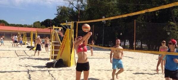 Пляжный волейбол в Парке Горького
